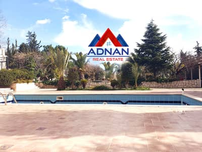 7 Bedroom Villa for Rent in Abdun, Amman - Semi-palace villa for rent in Abdoun for the benefit of a consulate or embassy