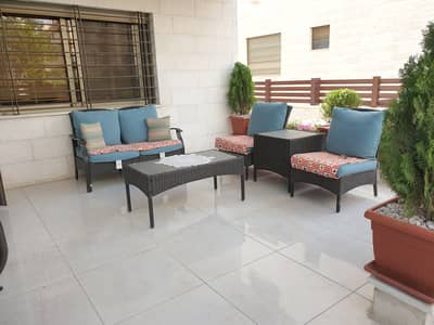3 Bedroom Apartment for Sale in Um Uthaynah, Amman - A ground floor apartment for sale in Um Uthayna