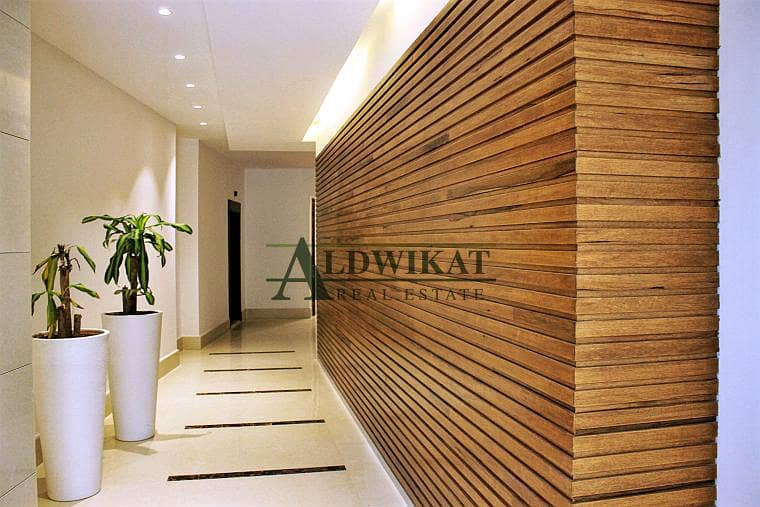 شقة أرضية للبيع في دابوق مساحة البناء 245 م مساحة الترس 80م جديده لم تسكن