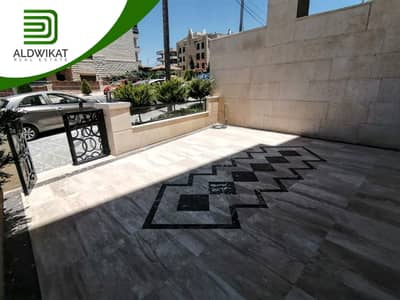 4 Bedroom Flat for Sale in Khalda, Amman - Semi ground apartment for sale in Khalda, with an area of 245 sqm