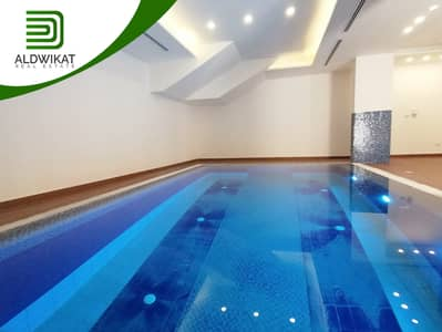 4 Bedroom Flat for Sale in Um Uthaynah, Amman - Ground floor semi villa with pool for sale in  Um Uthaynah