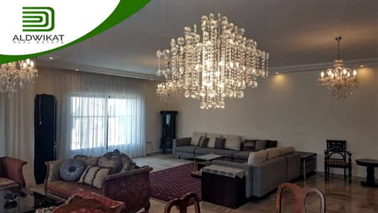 5 Bedroom Flat for Rent in Abdoun Alshamali, Amman - furnished third-floor apartment with distinctive finishes for rent in Abdoun Alshamali