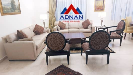 3 Bedroom Flat for Rent in Abdun, Amman - Luxurious furnished roof apartment with terraces for rent in Abdun