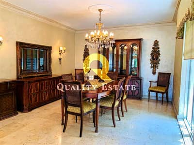 3 Bedroom Flat for Rent in Abdun, Amman - Semi-ground floor furnished luxurious apartment for rent in the most prestigious areas of Abdun | 330 SQM