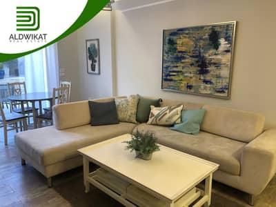 فلیٹ 2 غرفة نوم للايجار في الدوار الرابع، عمان - شقة شبه ارضية مفروشة للايجار في منطقة الدوار الرابع