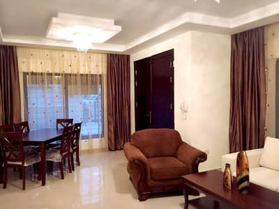 فلیٹ 3 غرف نوم للايجار في الدوار السابع، عمان - شقة ارضية مفروشة للإيجار في الدوار السابع | 3 نوم