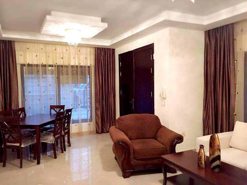شقة ارضية مفروشة للإيجار في الدوار السابع   3 نوم