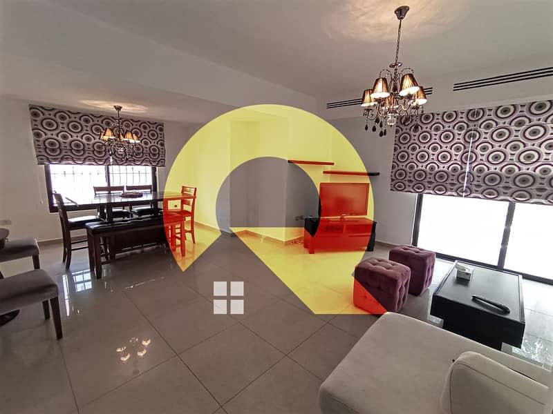 شقة مفروشة فاخرة للايجار في اجمل مناطق الدوار الرابع