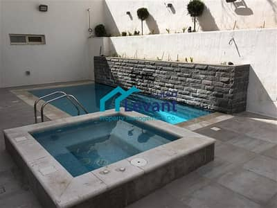 4 Bedroom Flat for Rent in Gardens, Amman - Modern Garden Duplex Apartment with Private Swimming Pool in Jabal Amman 1169