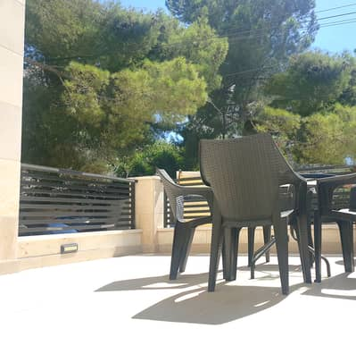 2 Bedroom Flat for Rent in Abdun, Amman - Luxury Furnished Apartment With Terrace For Rent In Abdoun, 2 bedroom