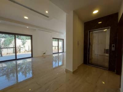 فیلا 4 غرف نوم للبيع في دابوق، عمان - شبه فيلا أرضية دوبلكس حديثة ومميزة مع حديقة للبيع في أرقى مناطق عمان - دابوق، مساحة بناء كلية 440 م