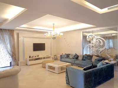 3 Bedroom Villa for Rent in Abdun, Amman - Semi Villa For Rent In Abdoun with Swimming Pool And Luxury Furnished 3 master Bedroom