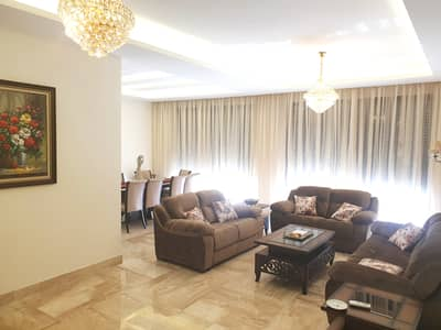 4 Bedroom Apartment for Rent in Abdun, Amman - Luxury Furnished Apartment Ground Floor For Rent
