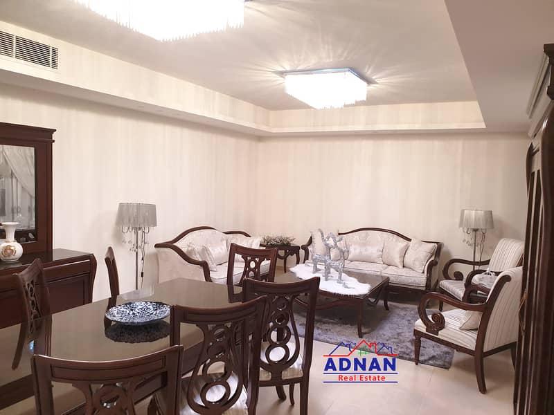 شقة مفروشه مميزه مع ترس و مدخل خاص في الرابيه للإيجار